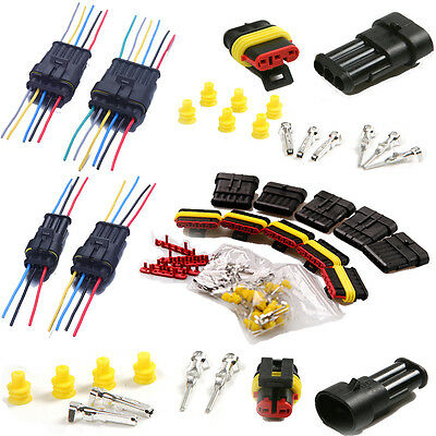 2/3/4/5/6 Pin Electrical Connector Plug Car Wire Male Female Terminal Waterproof