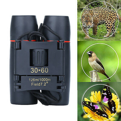 30 x 60 Zoomable 7.2° Outdoor Travel Birding Folding Binoculars Telescope+Case