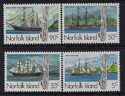 Norfolk Island 1985 Whaling Ships (1st series)  MNH