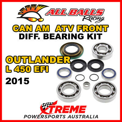 25-2069 Can Am Outlander L 450 EFI 2015 ATV Front Differential Bearing Kit