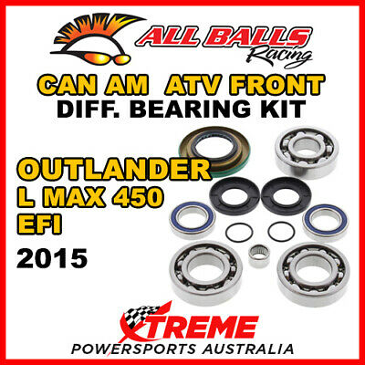 25-2069 Can Am Outlander L MAX 450 EFI 2015 ATV Front Differential Bearing Kit