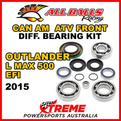25-2069 Can Am Outlander L MAX 500 EFI 2015 ATV Front Differential Bearing Kit