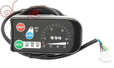 36V 3-speed PAS LED Control Panel/Display Meter-890 for Electric Bicycle Ebike