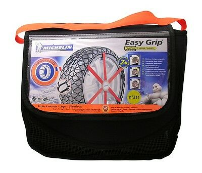 Michelin 2x Easy Grip Snow Chains L12 7908 fit 205/50/17 225/45/17 235/45/17