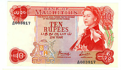 Mauritius ... P-31c ... 10 Rupees ... ND(1967) ... *UNC* ... Low serial #