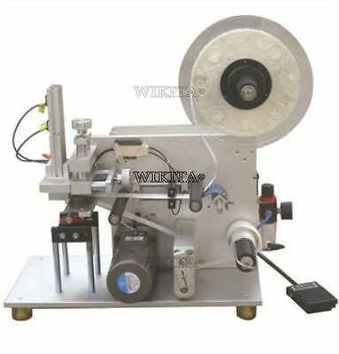Semi-Automatic Surface Flat Labeling Machine Labeler Lt-60+Air Pump 110V Y X