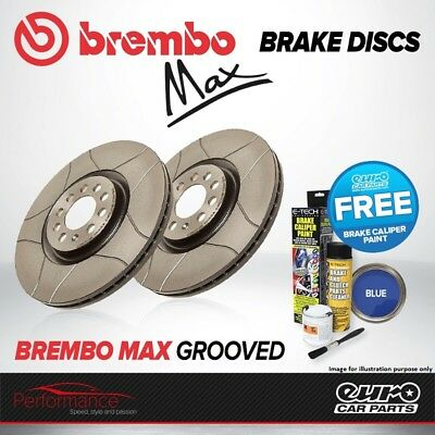 Brembo Max Rear Vented High Carbon Grooved Brake Disc Pair Discs x2 09.6841.75