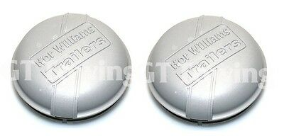 2 x Genuine Ifor Williams Trailer 76mm Hub Cap | Grease Cap | Dust Cap | P1258