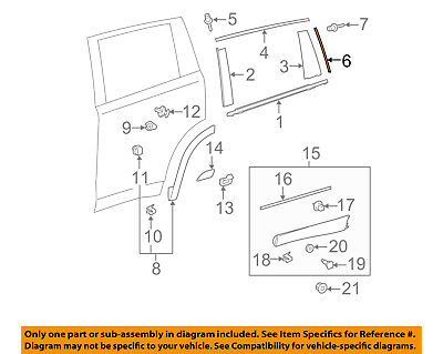 TOYOTA OEM 14-18 Highlander Exterior-Rear-Rear Molding Right 757430E040
