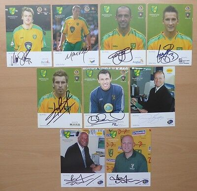 Norwich City Signed Official Club Cards - £4 Each - HUCKERBY GOSS GUNN +++