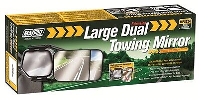 Large Dual Towing Mirror Maypole 8324 New