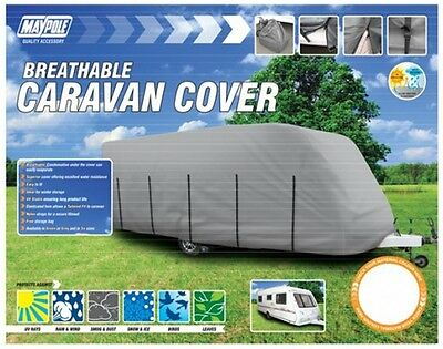 Maypole 9433 Caravan Cover - Fits 5m to 5.6m - Grey New