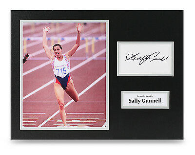 Sally Gunnell Signed 16x12 Photo Olympic Hurdler Autograph Display Memorabilia