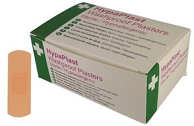 HypaPlast Pink Washproof Plasters x100 Safety First Aid D9001 New