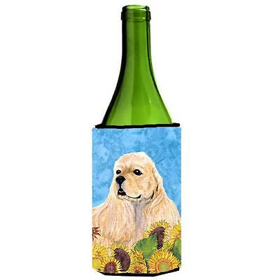 Cocker Spaniel In Summer Flowers Wine bottle sleeve Hugger 24 oz.