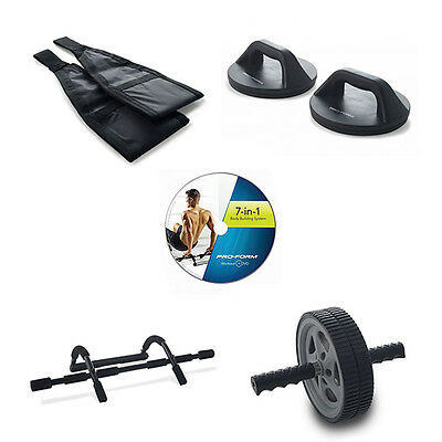 ProForm 7-in-1 Body Building Workout System + Exercise/Nutrition Guide | PFK13