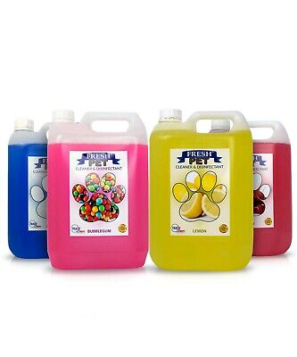 FRESH PET - PET DISINFECTANT CLEANER 4 x 5L - SAME FRAGRANCE OR ECO REFILLS F&F
