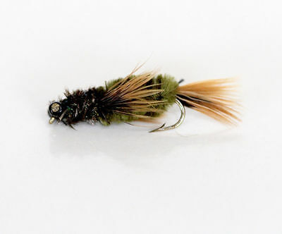 12  NYMPH Dragon Fly MUD EYE TROUT FLIES for fly fishing rods