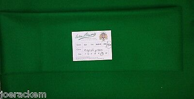 New Simonis 4000 English Green Snooker Cloth 10' Cut - True Directional Nap