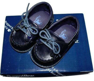 3d84d923c8d4 RUGGED BEAR BABY Boys Lace-Up Boat Dress Shoes Black Slip On s Size ...