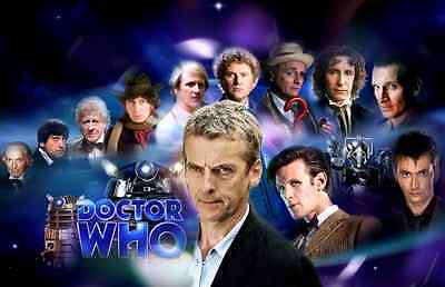 12 Faces Of Dr Who Mouse Mat