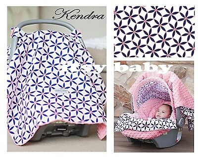 The Whole Caboodle Carseat Canopy Baby Car Seat Cover 5 Pc Set New ~ Kendra ~
