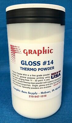 Thermography Powder Graphic #14 Gloss Clear New 1 Pound