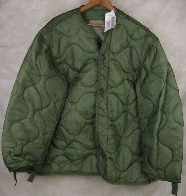 New Genuine Us Military Issue M65 Field Jacket Liner Quilted Od Green Size Xl