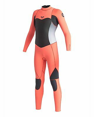 NEW ROXY™  Girls 2-14 Syncro 4/3mm GBS Steamer Wetsuit 2015 Teens Surf