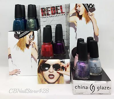 China Glaze Nail Lacquer- REBEL Fall 2016 Collection - Pick Any Color