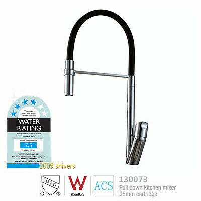 AU Kitchen Pull out Mixer Water Tap Faucet Swivel Spray Lavatory Sink WELS Mark