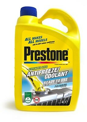 Ready to Use Antifreeze & Coolant - 4 Litre Prestone PAFR0201A New