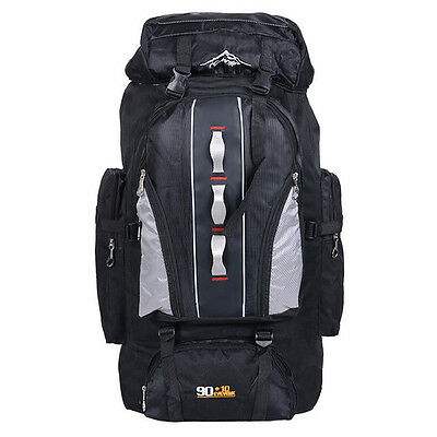 Outdoor travel mountaineering bags 100L nylon sports bag unisex hiking backpacks