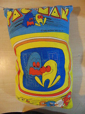VTG PAC - MAN Pillow Video Arcade Game Ghost 1982 Midway MFG. Co