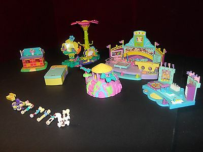 Huge Lot Polly Pocket Bluebird Compacts, Houses, People, Animals 1999-2001