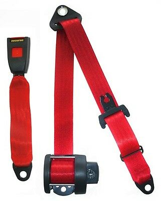 Seat Belt Auto Lap And Diagonal  Red 264RED Securon New