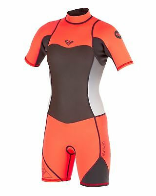 NEW ROXY™  Girls 2-14 Syncro 2/2mm Short Sleeve Springsuit Wetsuit Teens Surf