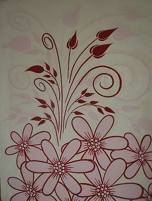 """Garden"" Red & Pink Leaves Vines Tulips Acrylic Dot Painting Canvas"