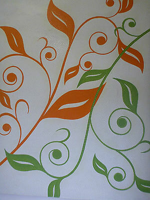 """Leaves"" Green & Orange Flower Garden Acrylic Dot Painting Canvas"