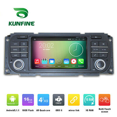 Android5.1 Quad Core Car Stereo DVD Player GPS Navi For Jeep Wrangler 2003-2006