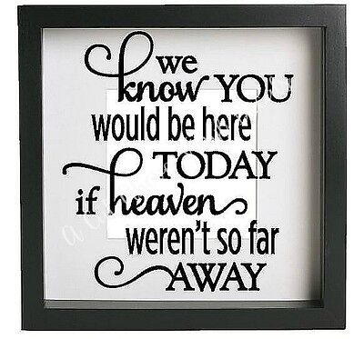 Vinyl Sticker for IKEA RIBBA FRAME We know you would be here today QUOTE