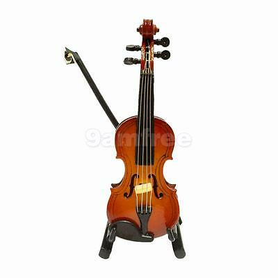 Wooden Violin w/ Case & Stand for 1:12 Scale Dolls House Miniature Accessory