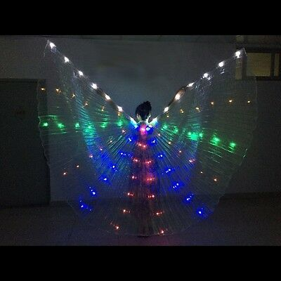 Led isis wings Belly dance club Linght show Costume Colourful rainbow LED wing