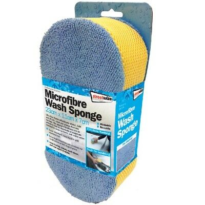 Streetwize SWCR7 Microfiber Wash Sponge Car Care Cleaning Washing Scrubbing