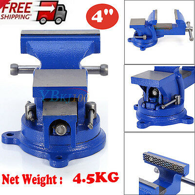 Heavy Duty Engineers Vice Vise Swivel Base Workshop Clamp Jaw  Workbench Table