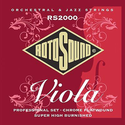 Rotosound RS2000 Professional Viola Chrome Flatwound Strings