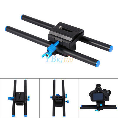 15mm Rail Rod Support System Baseplate Quick Release Plate For DSLR Camera Focus