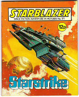Starblazer #31 , Space Fiction Adventure , Aug 1980 , DC Thompson , VERY FINE