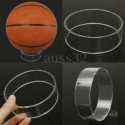Clear Basketball Volleyball Football Soccer Ball Display Stand Ring Holder 3.9''