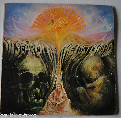 THE MOODY BLUES: in Search of The Lost Chord LP Record Gatefold cover